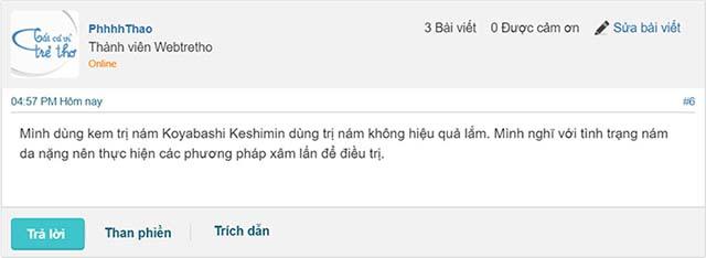 kem trị nám kobayashi keshimin review từ webtretho
