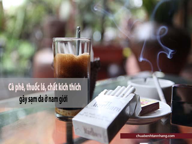 thuốc lá cà phê gây sạm da ở nam giới