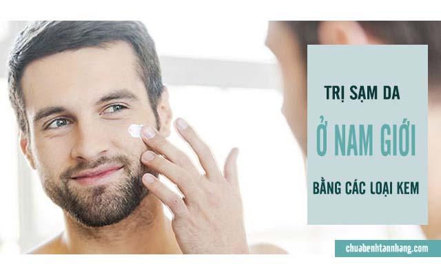 trị sạm da ở nam giới bằng kem dưỡng