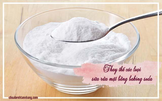 trị tàn nhang bằng baking soda và nước