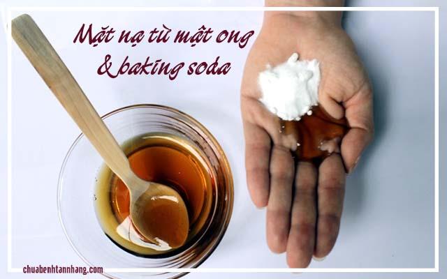 trị tàn nhang bằng baking soda và mật ong