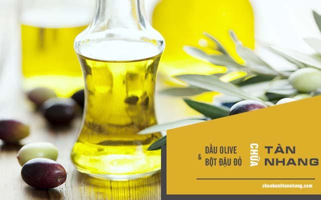 trị tàn nhang bằng bột đậu đỏ và dầu olive