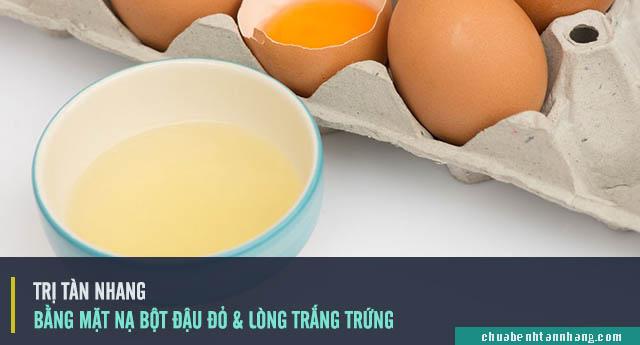 trị tàn nhang bằng bột đậu đỏ và lòng trằng trứng