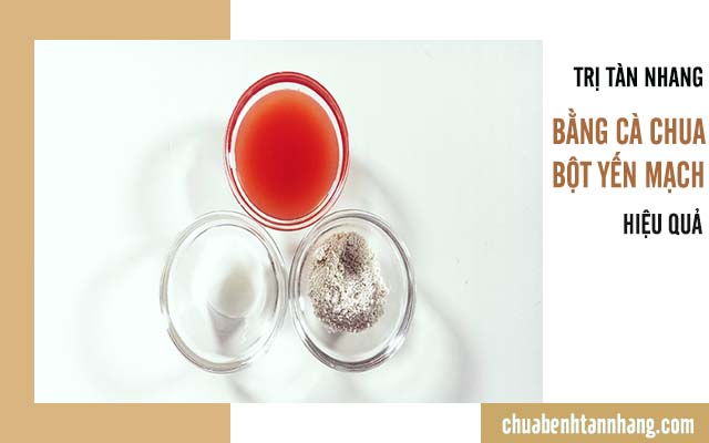 trị tàn nhang bằng cà chua và bột yến mạch
