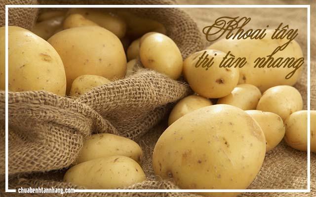 trị tàn nhang khi mang thai với khoai tây và sữa tươi