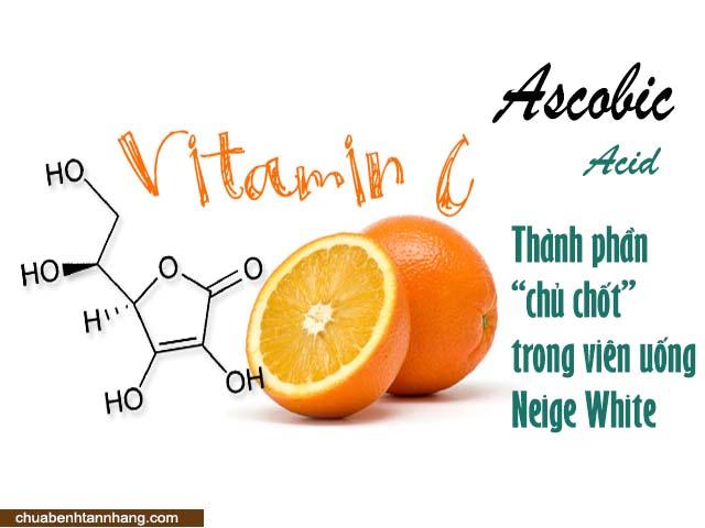 viên uống neige white trị nám chứa vitamin c