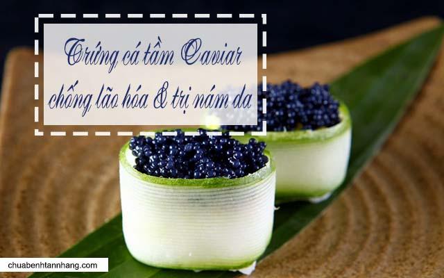 kem trị nám Bergamo chứa trứng cá tầm caviar