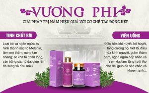 Hai chế phẩm hoàn hảo của Bộ sản phẩm Nám da, Tàn nhang Vương Phi